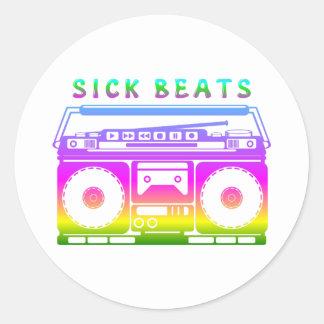 Sick Beats 80's Stereo Classic Round Sticker