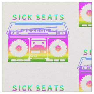 Sick Beats 80's Stereo Fabric