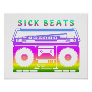 Sick Beats 80's Stereo Poster