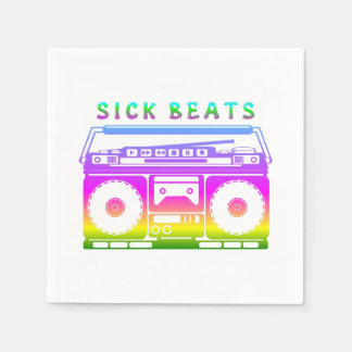 Sick Beats Disposable Serviette