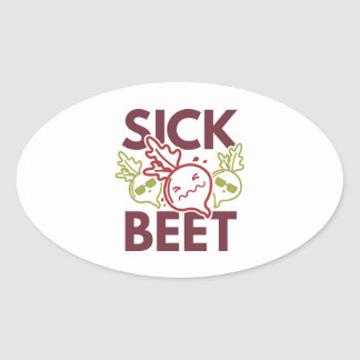 Sick Beet Oval Sticker
