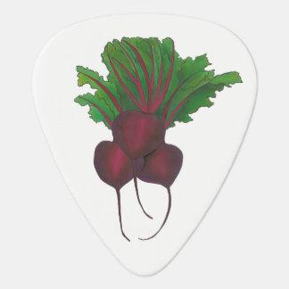 Sick Beets (Beats) Red Beet Vegetarian Funny Food Guitar Pick