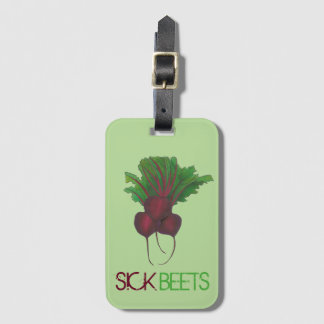 Sick Beets (Beats) Red Beet Vegetarian Funny Food Luggage Tag