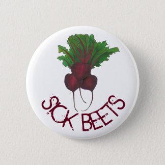 Sick Beets (Beats) Red Beet Vegetarian Vegan Food 6 Cm Round Badge