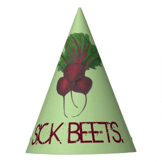Sick Beets (Beats) Red Beet Vegetarian Vegan Food Party Hat