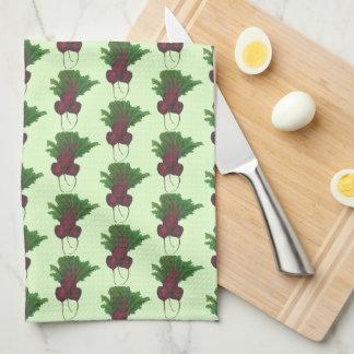 Sick Beets (Beats) Red Beetroot Garden Vegetable Tea Towel