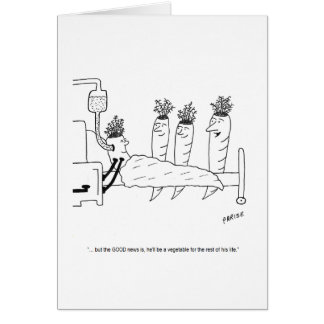 Sick Carrot Cartoon Birthday Card
