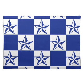 Sick Dark Blue Stars Placemat