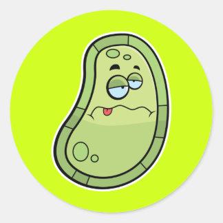 Sick Germ Round Sticker
