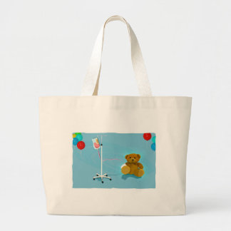 Sick_lil_Bear Large Tote Bag