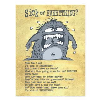 Sick Monster Postcard