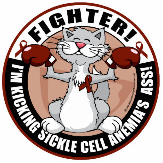Sickle Cell Anemia Fighter Cat Cut Outs