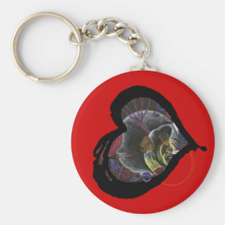 Sickle Cell Awareness Heart - Need not Suffer Basic Round Button Key Ring