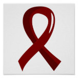 Sickle Cell Disease Burgundy Ribbon 3