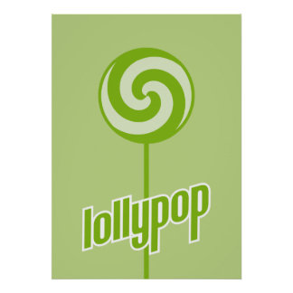 sickly sweet green lollypop poster