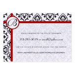 Side Borders Black Damask Response Website Cards