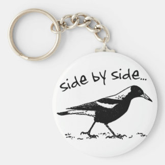 Side by Side Basic Round Button Key Ring