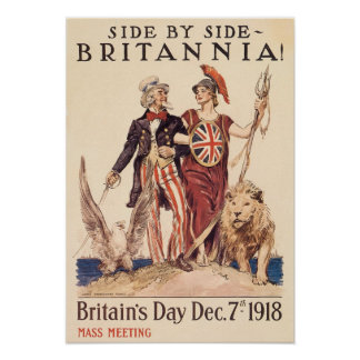 Side By Side Britannia Poster