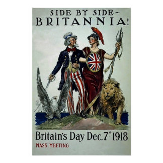 Side by Side~Vintage World War 1 Poster