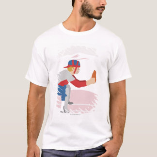 Side profile of a baseball player T-Shirt