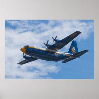 Side Shot of Blue Angels C-130 Fat Albert Poster