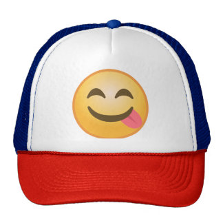 Side Tongue Emoji Cap