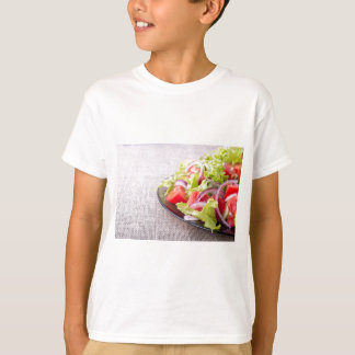 Side view of a plate of fresh salad closeup T-Shirt