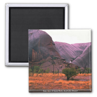 Side view of Ayers Rock, Australia Desert Magnet