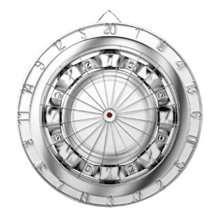 Side view of ball bearing dartboard