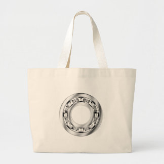 Side view of ball bearing large tote bag