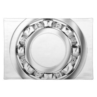 Side view of ball bearing placemat