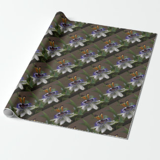 Side View of Beautiful Passiflora Flower Wrapping Paper