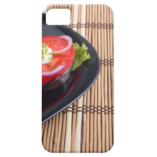 Side view of the cut slices of red tomatoes iPhone 5 cover