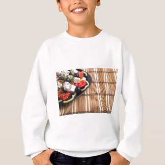 Side view of the Greek vegetarian salad of tomato Sweatshirt