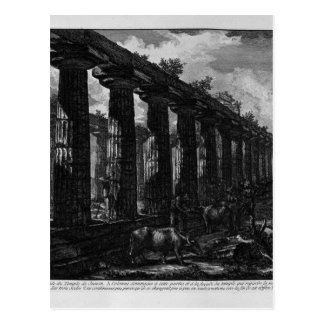 Side View of the Temple of Juno Giovanni Battista Postcard