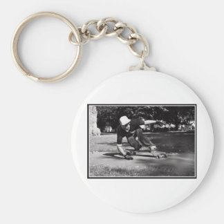 side walk tap basic round button key ring