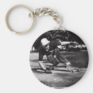 side walk tap basic round button key ring