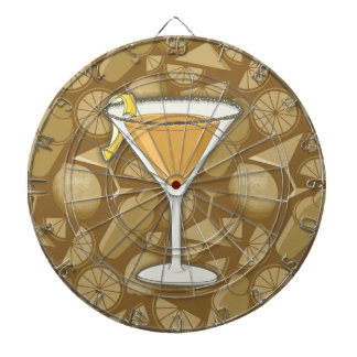 Sidecar cocktail dartboard