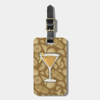 Sidecar cocktail luggage tag