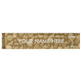 Sidecar cocktail name plate
