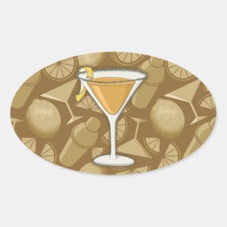 Sidecar cocktail oval sticker