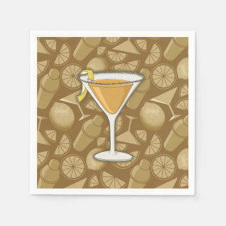 Sidecar cocktail paper serviettes