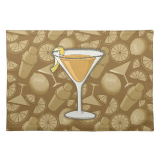 Sidecar cocktail placemat