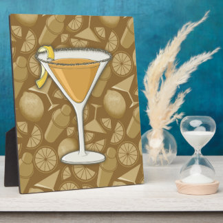 Sidecar cocktail plaque