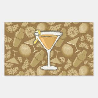 Sidecar cocktail rectangular sticker