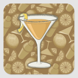 Sidecar cocktail square sticker