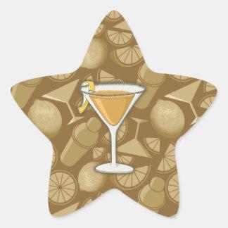 Sidecar cocktail star sticker
