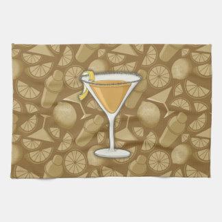 Sidecar cocktail tea towel