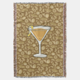 Sidecar cocktail throw blanket