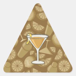 Sidecar cocktail triangle sticker